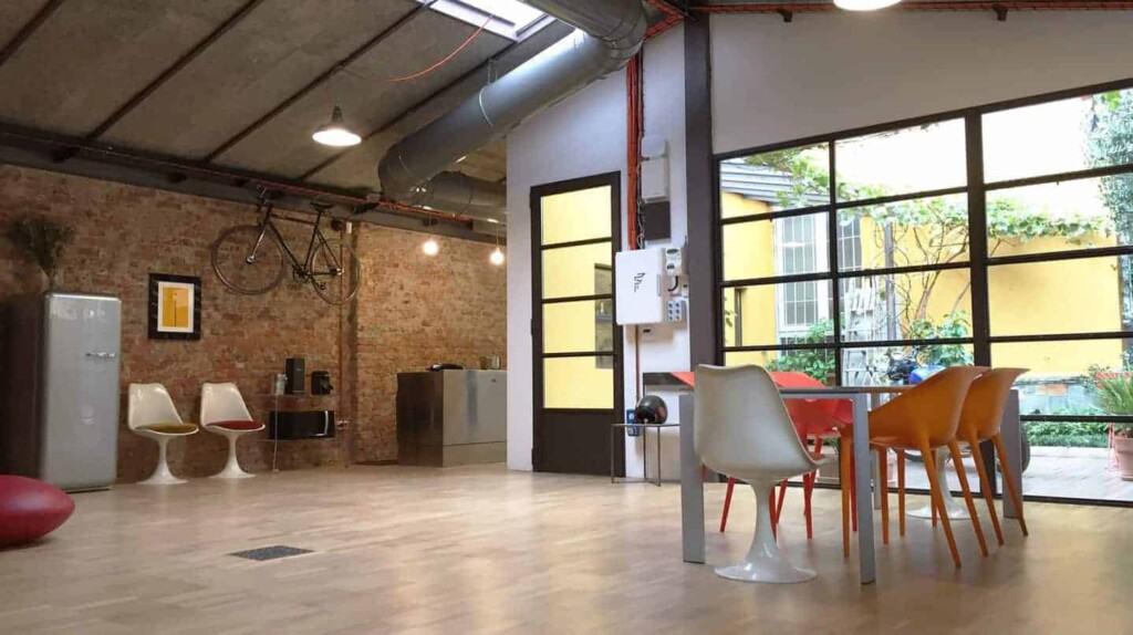 Multipurpose modern loft with a unique decoration