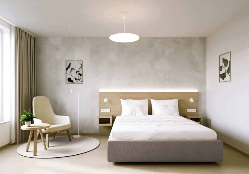 Natured inspired hotel with a modern decoration