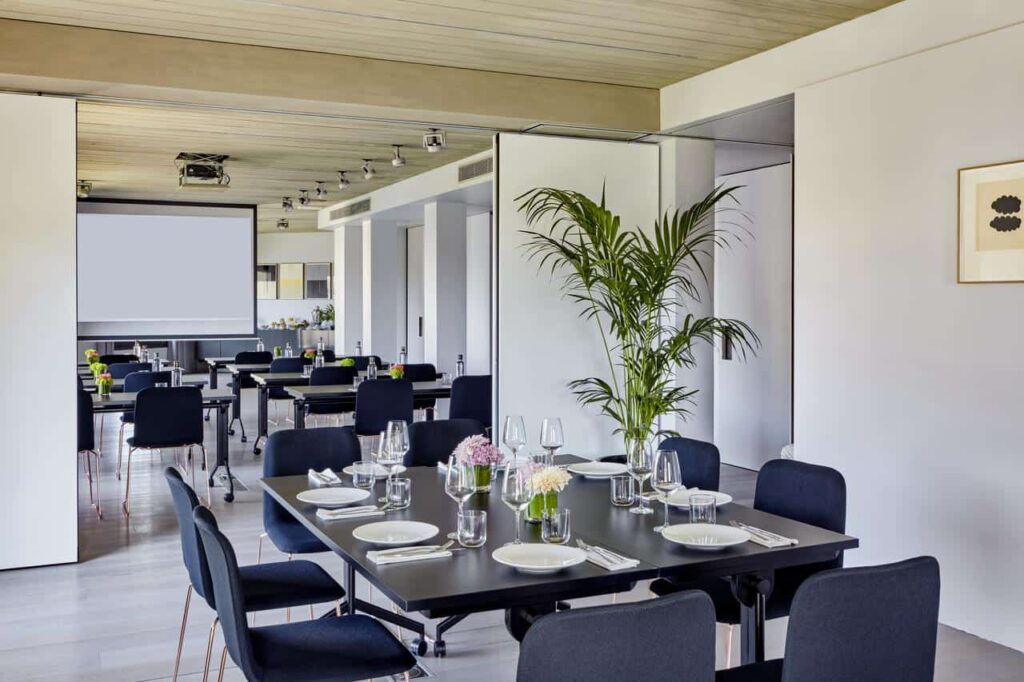 Sleek designed room with views of Barcelona