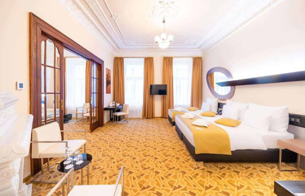 Sophisticated modern hotel in Prague