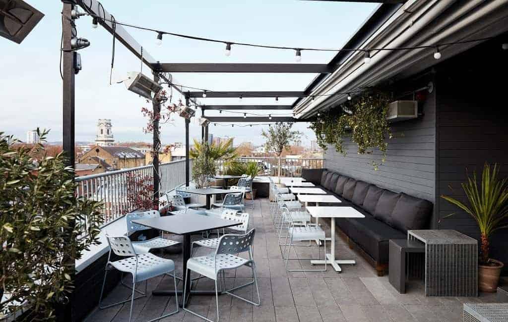 Spacious terrace and bar with panoramic views