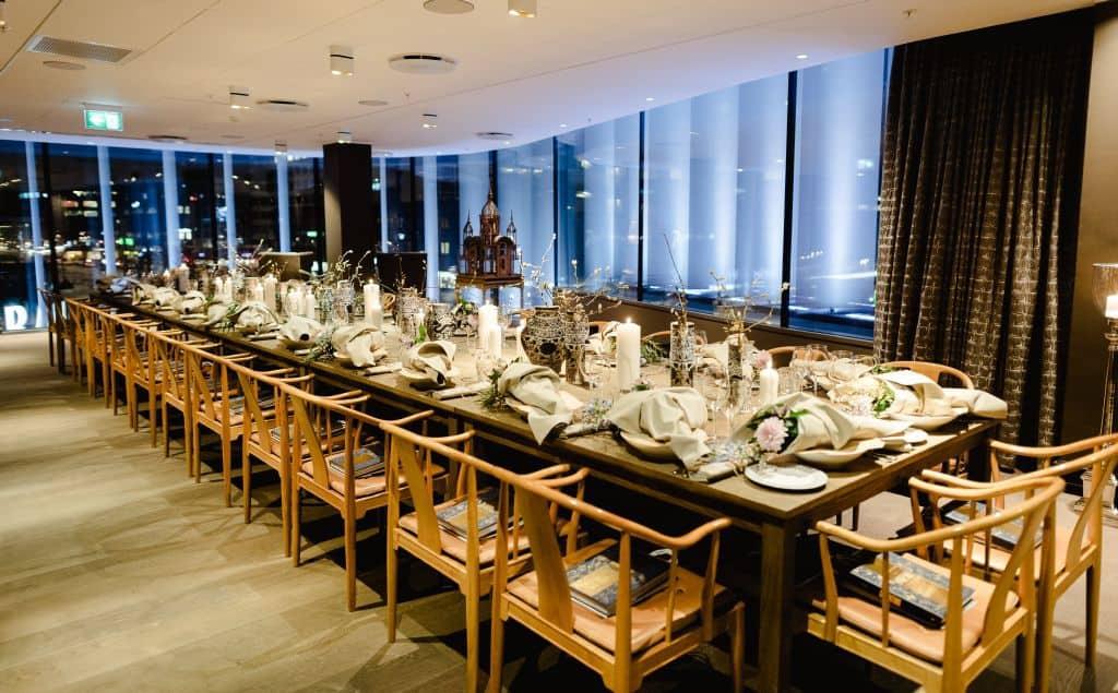 Bright luxury room with elegant décor