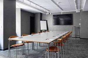 Bright minimalistic space for business meetings