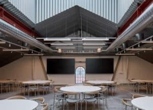 Bright venue with a cool industrial design