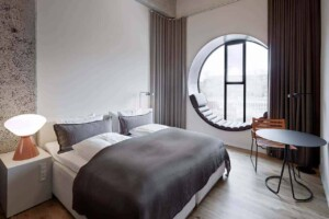 Luxury boutique hotel with cool industrial rooms