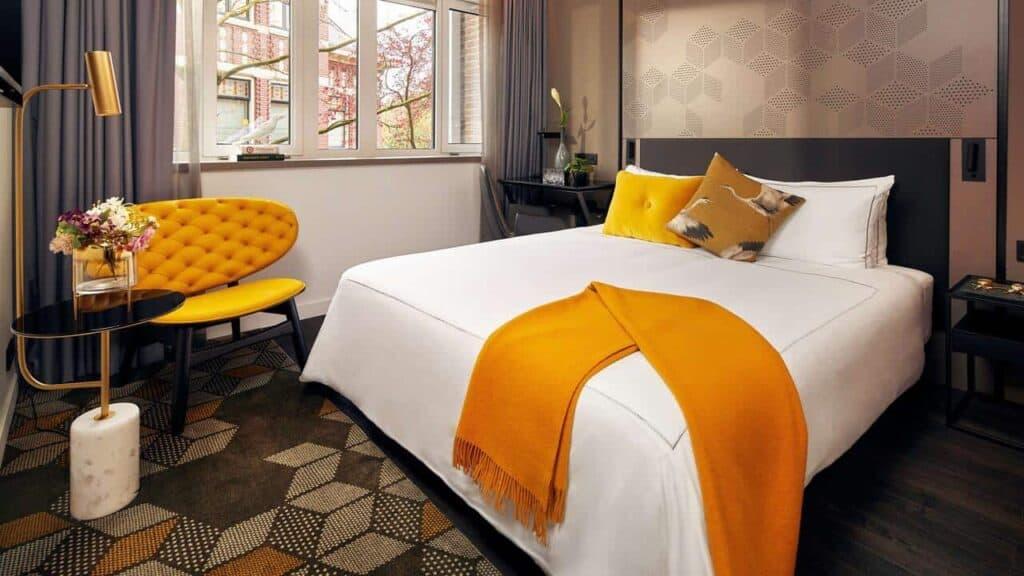 Luxury hotel with views of the Vondelpark
