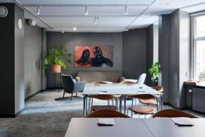 Modern meeting space with a Nordic look