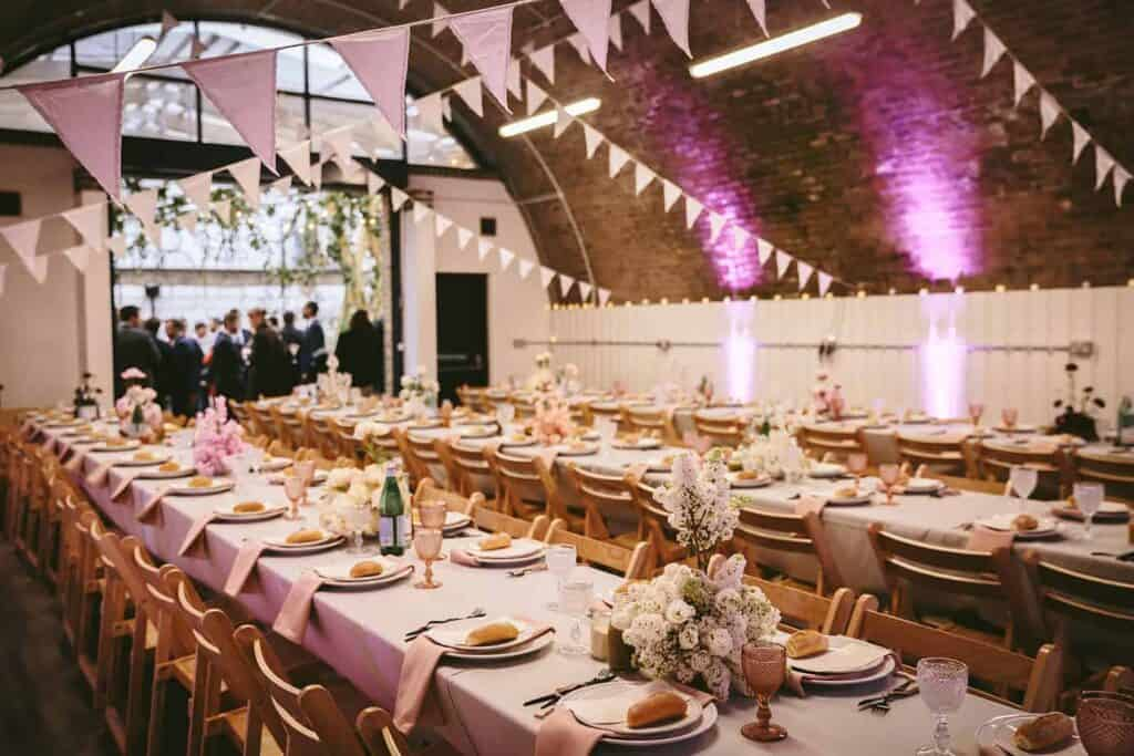 Unique event location with a courtyard