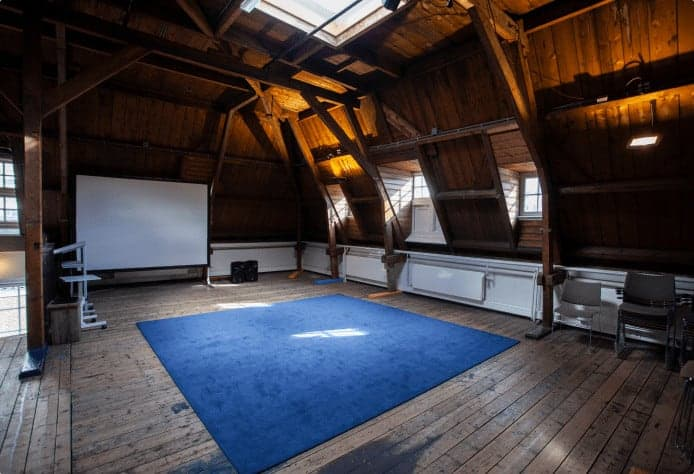 Wooden attic space for events