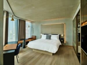 Luxury sustainable hotel with beautiful rooms