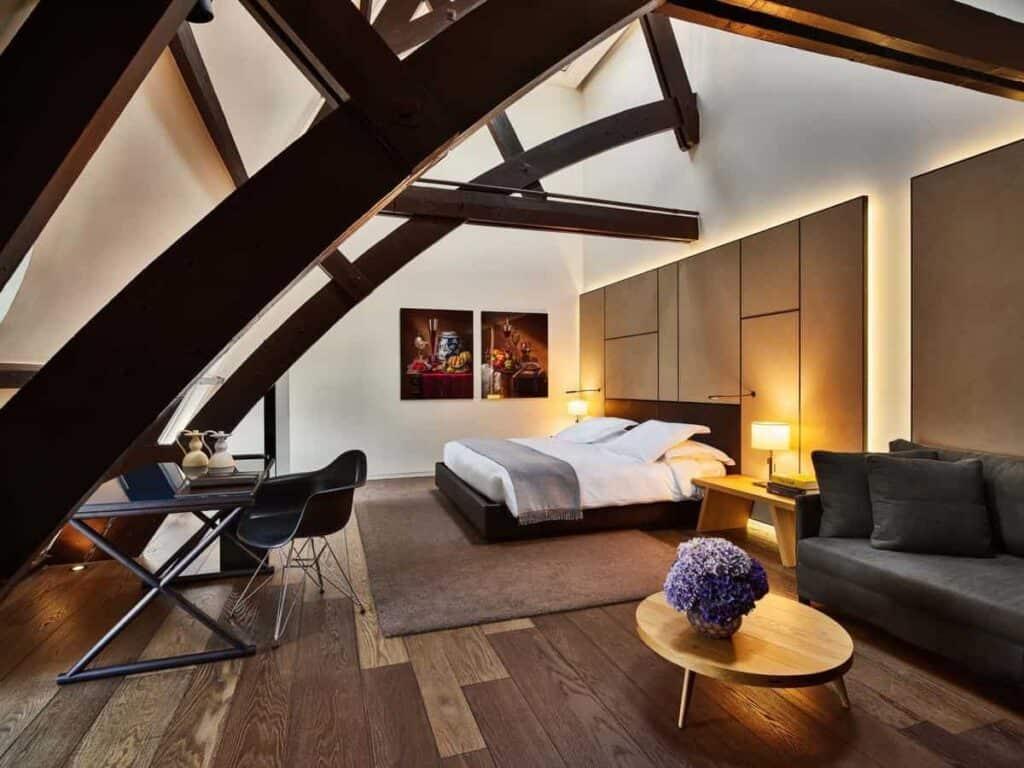 Modern hotel with Art Nouveau interiors