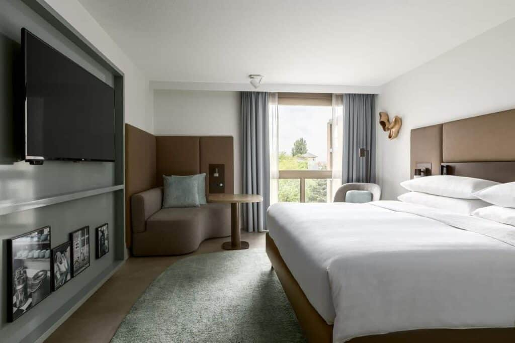 Stylish hotel with elegant decorated rooms