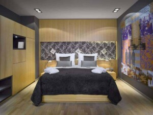 Contemporary hotel with elegant and stylish rooms