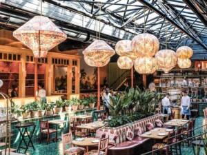 Magnificent vibrant venue with Mediterranean style featuring a unique design.