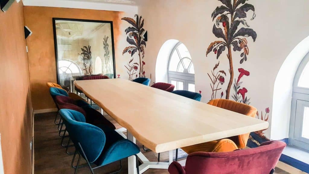 Meeting space with quirky touch