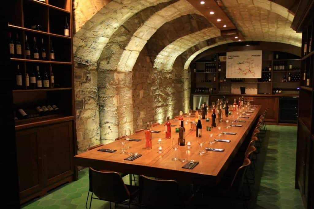 Special wine cave venue with stone walls