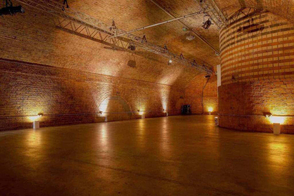 Event venue located under railway bridges in Shoreditch