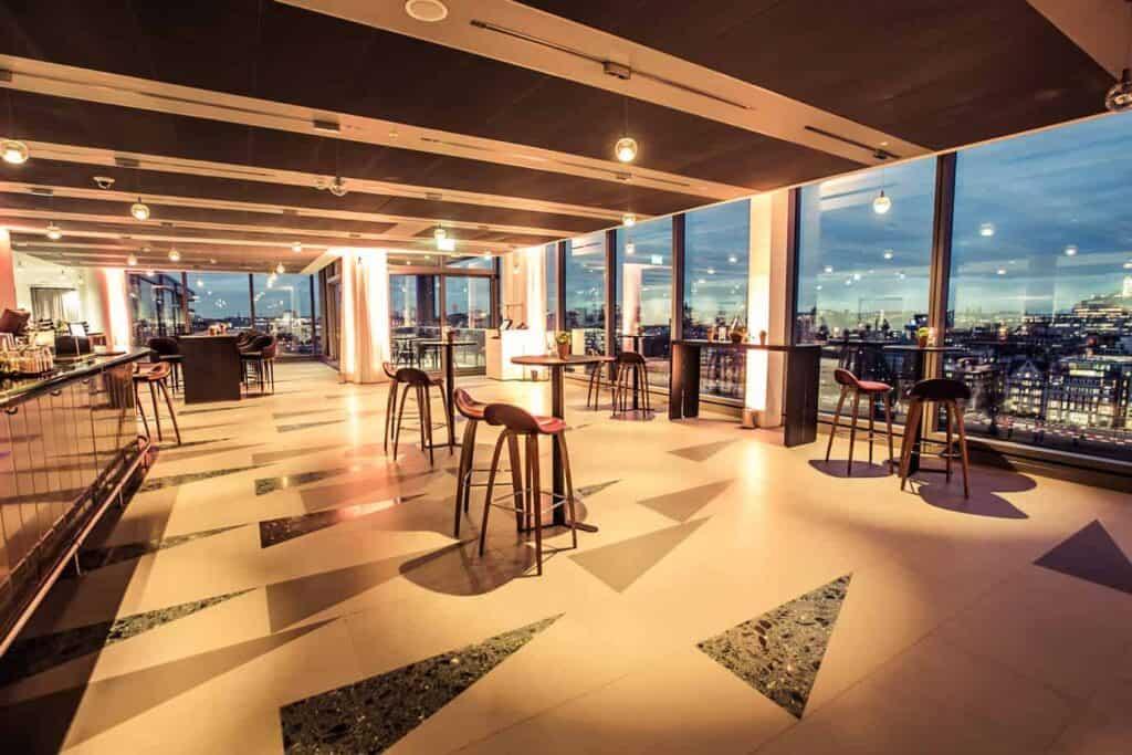 Sleek, chic and trendy venue