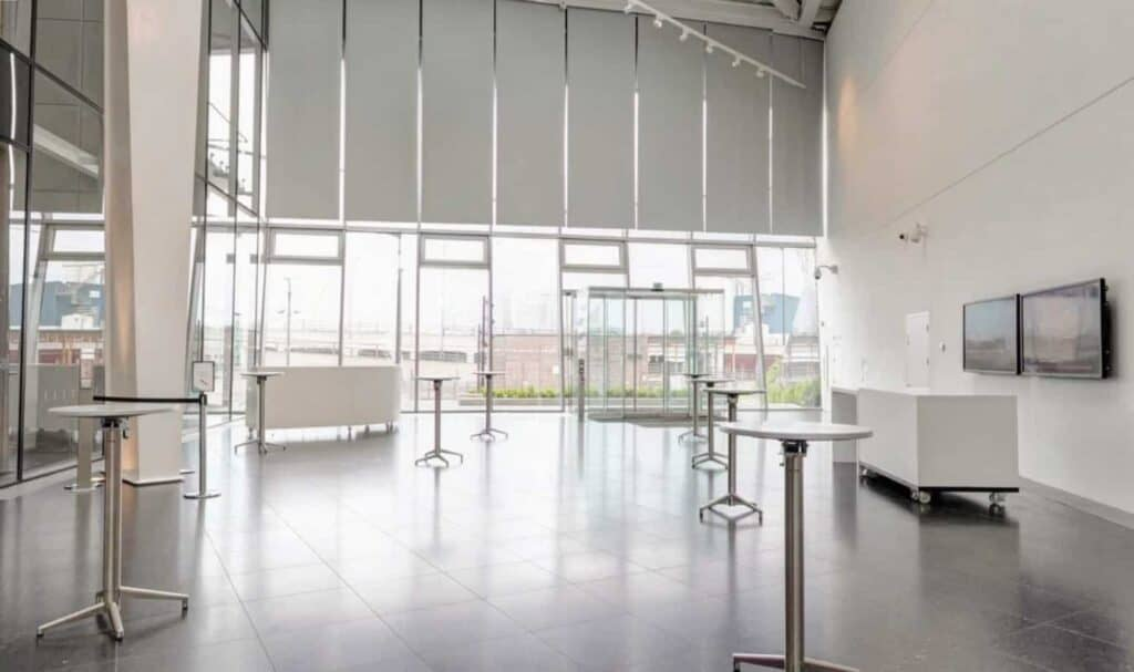 Glass event venue with a sustainable design