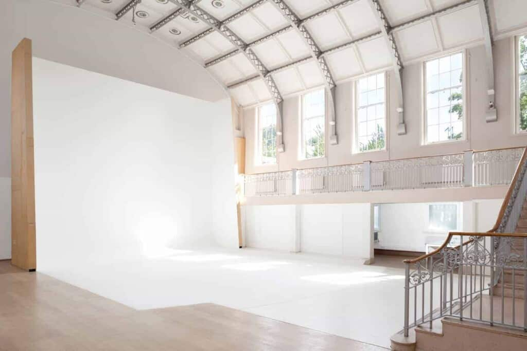 Gorgeous white event venue for creative events
