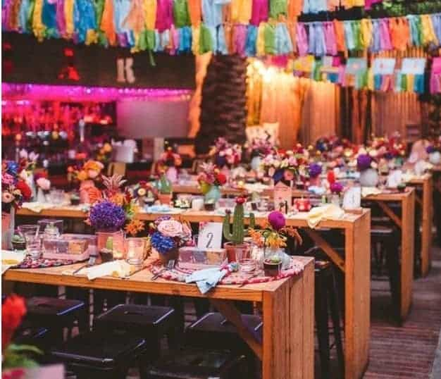 Industrial venue in Mexican themed event