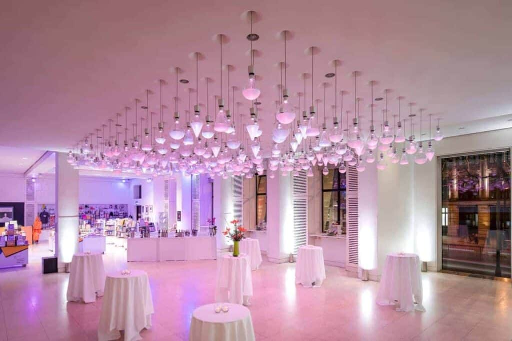 Light and airy event venue with a quirky touch