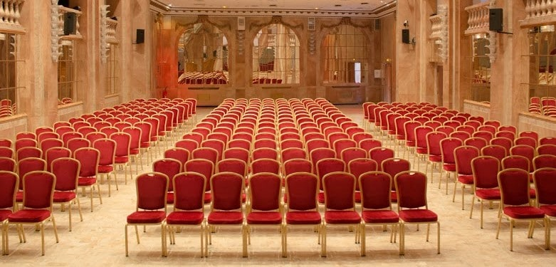 Beautiful ballroom venue for large business festivities