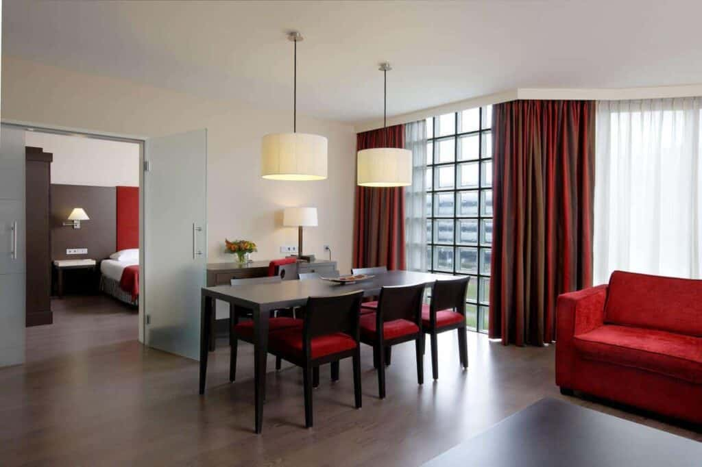 Stylish functional hotel by the Airport in Amsterdam. Accommodation for business trips.