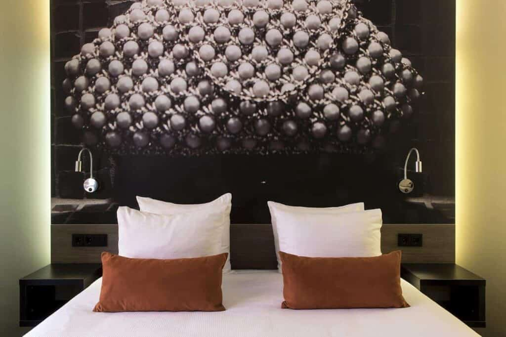Urban boutique hotel with a quirky touch in Amsterdam for business trips.