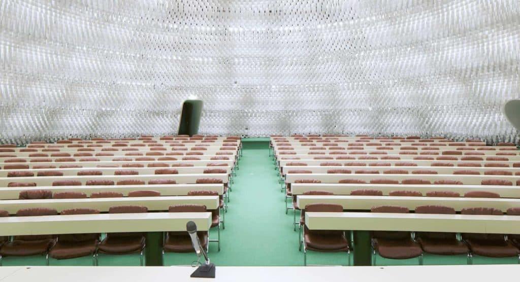 Futuristic and luminous dome for events