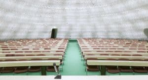 Futuristic and luminous dome for conferences