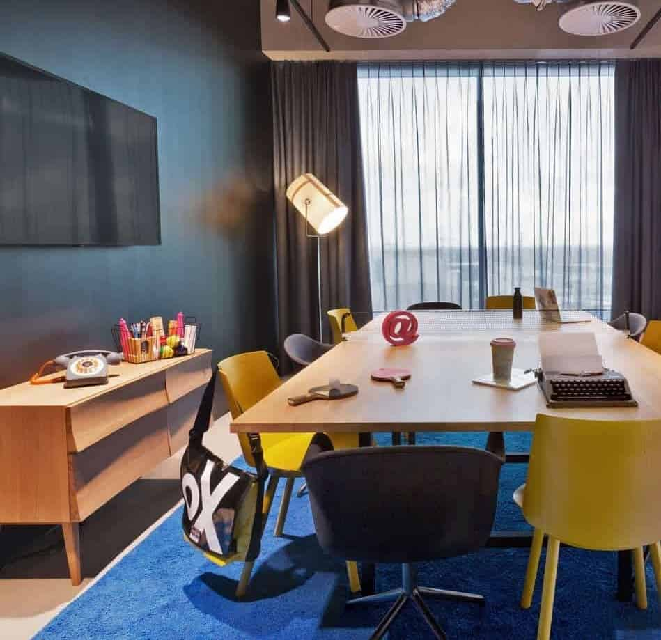 Pleasant Colorful Meeting Room