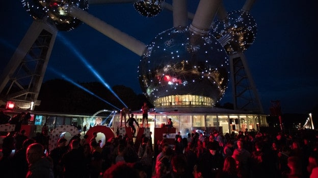 Electronic festival under the Atomium