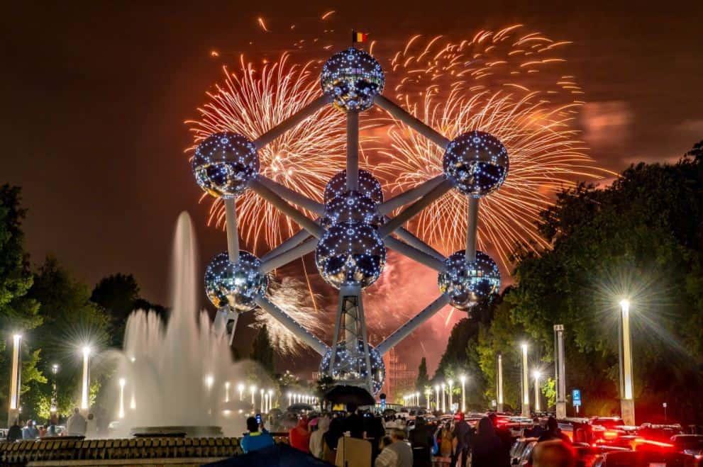 Atomium at New Years