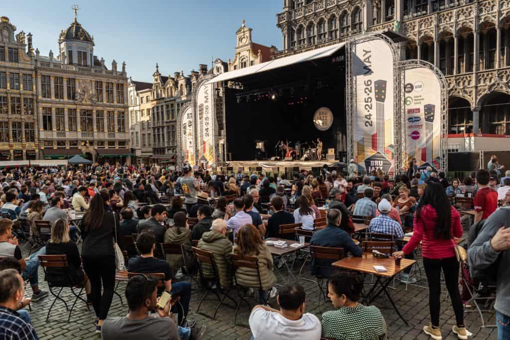 Oude Markt during Brussels Jazz Weekend