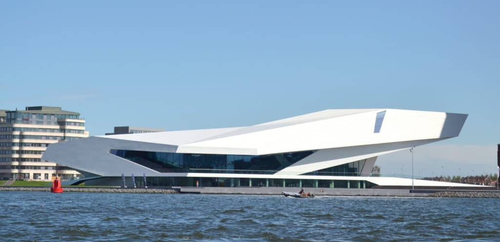 Eye Filmmuseum looked at from the IJ