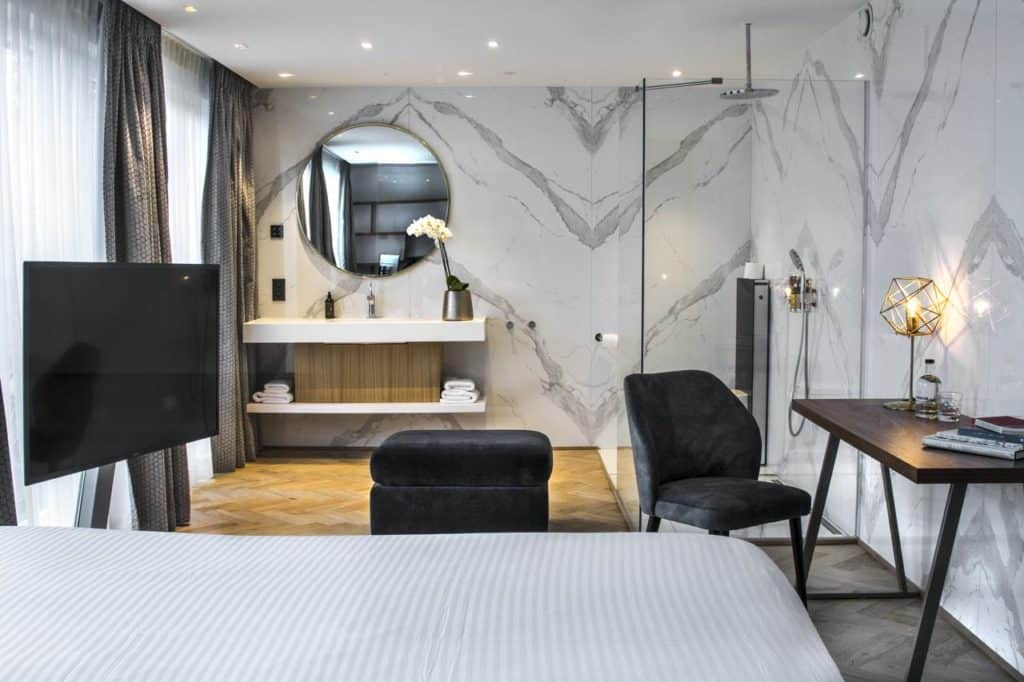 Minimalist decorated accommodations in Brussels