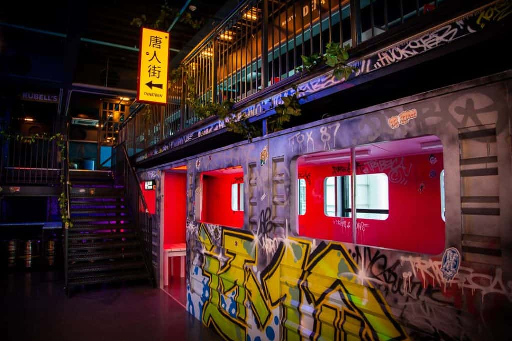 Urban interior from Huckster bar in London