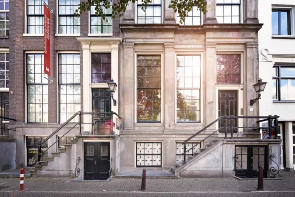 Facade of the oldest photography museum in Amsterdam