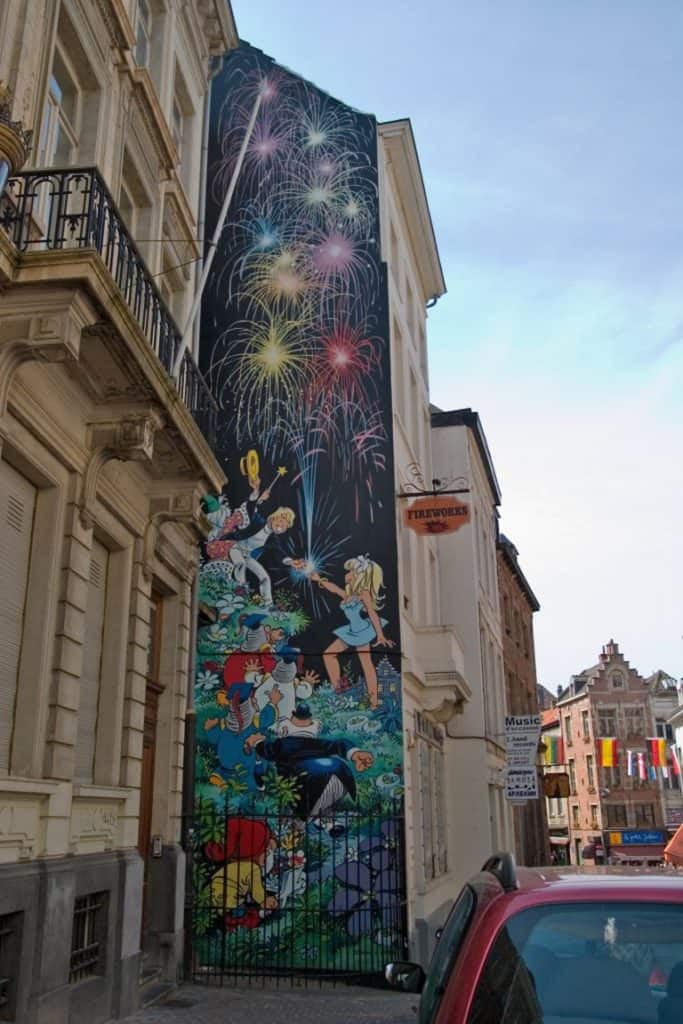 Comic book wall in Brussels
