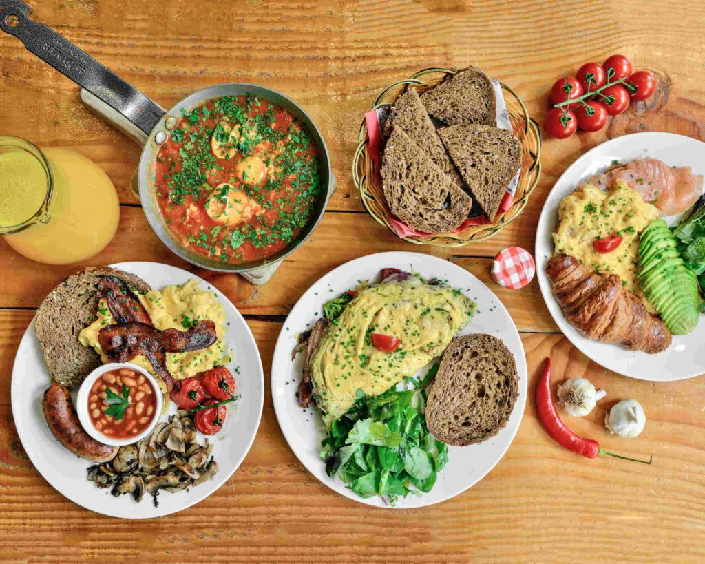 Varied and delicious brunch in Amsterdam city