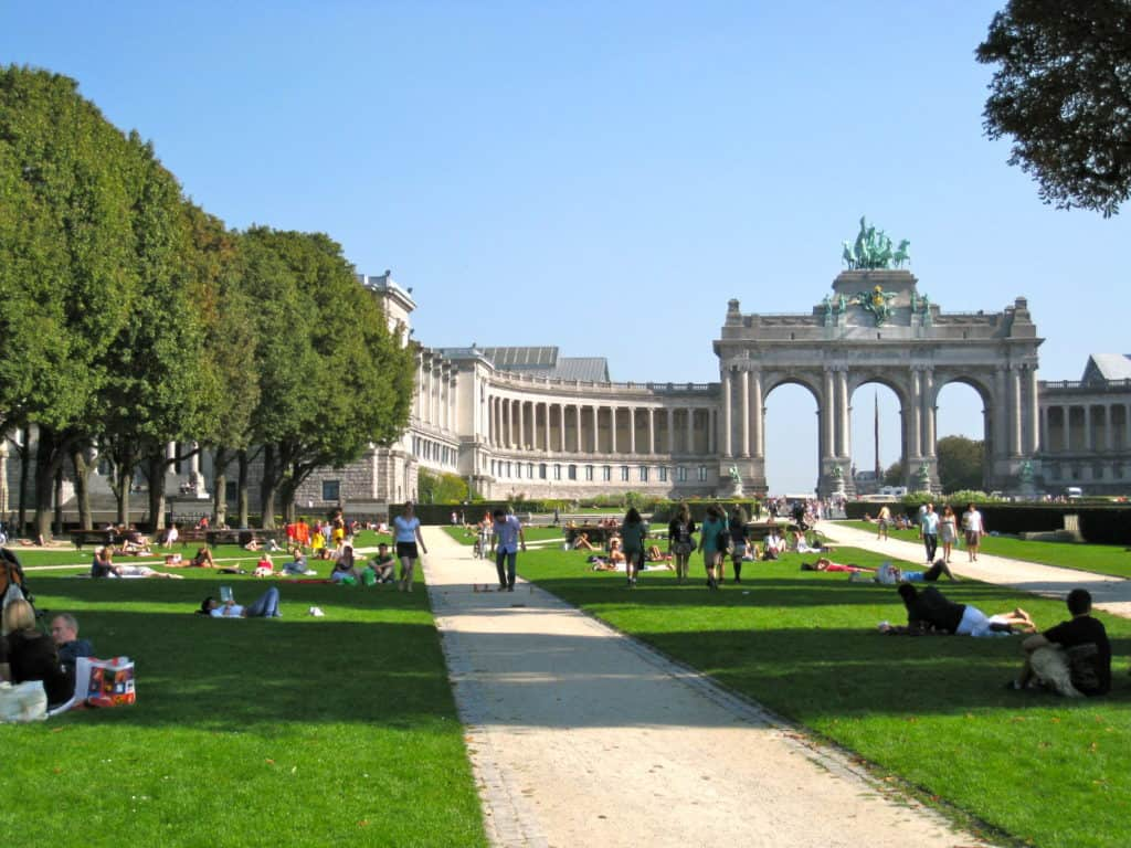 View of the famous Jubelpark near the EU district