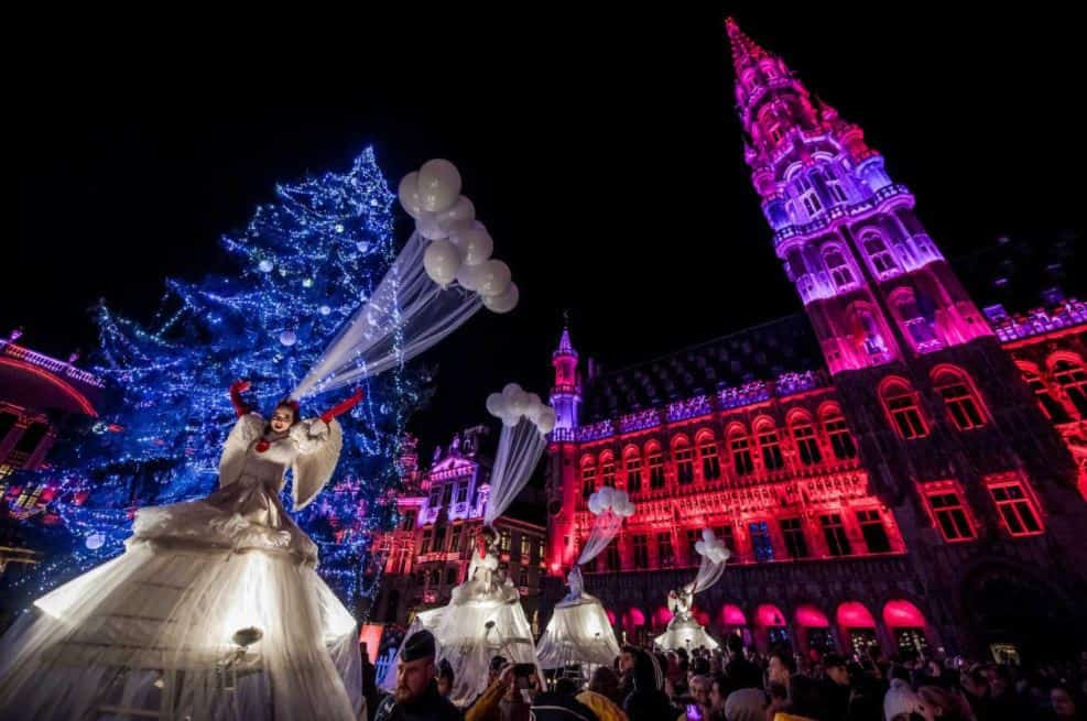 Grand Place in Brussels during Christmas