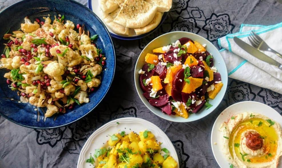 Snapshot of vegan food from Amsterdam caterer