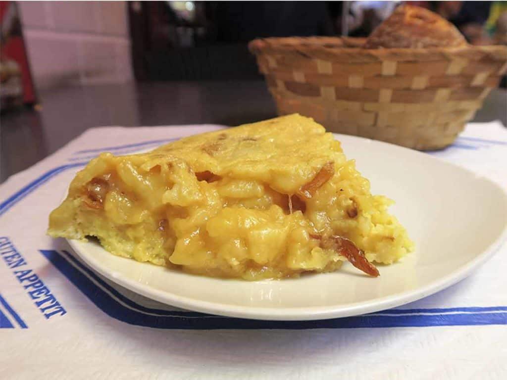 Close-up of an award-winning omelette