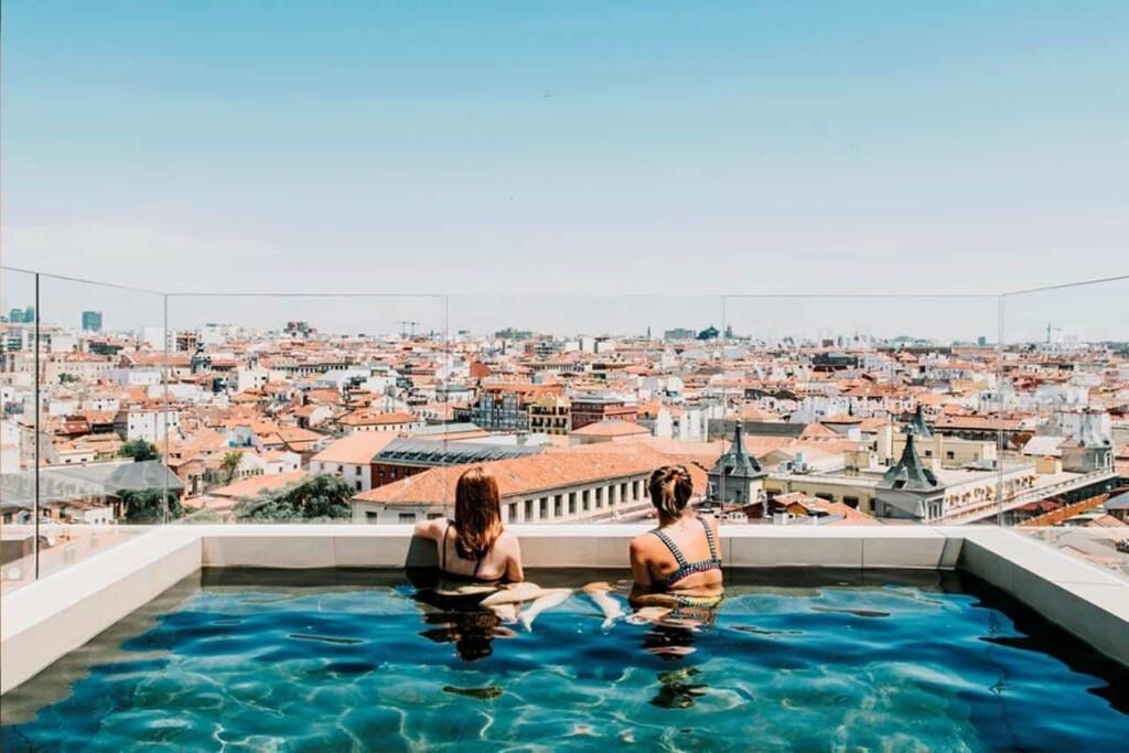 rooftop pool in Madrid