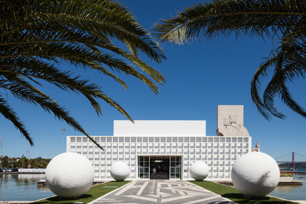 Facade from futuristic restaurant in Lisbon