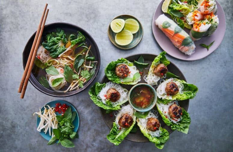 Healthy self-cooked dishes via Jamie Oliver Cookery School at virtual cooking courses