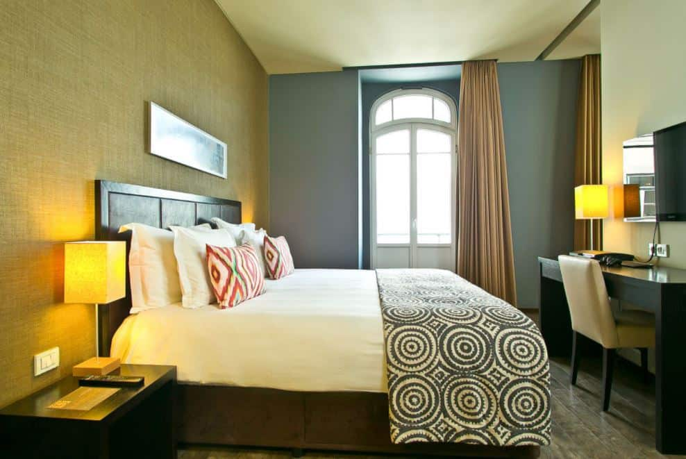 Room in the design hotel in Lisbon