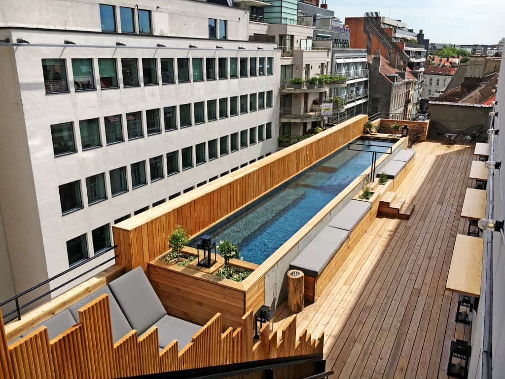 Rooftop with swimming pool